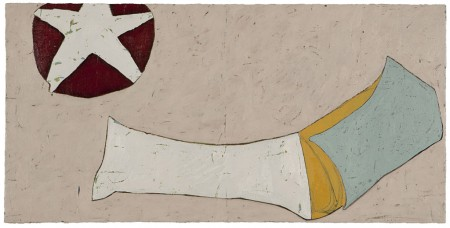 Sarah Davenport, Untitled, oil and ink on canvas, 50x100cm, 2009