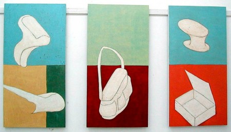 Belongings series 3, 4, 5, 2002, each 50 x 100 cm