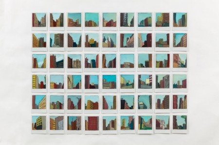 54 paintings on Polaroids, by Sarah Kudirka, 2012-13